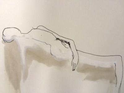 half figure drawing