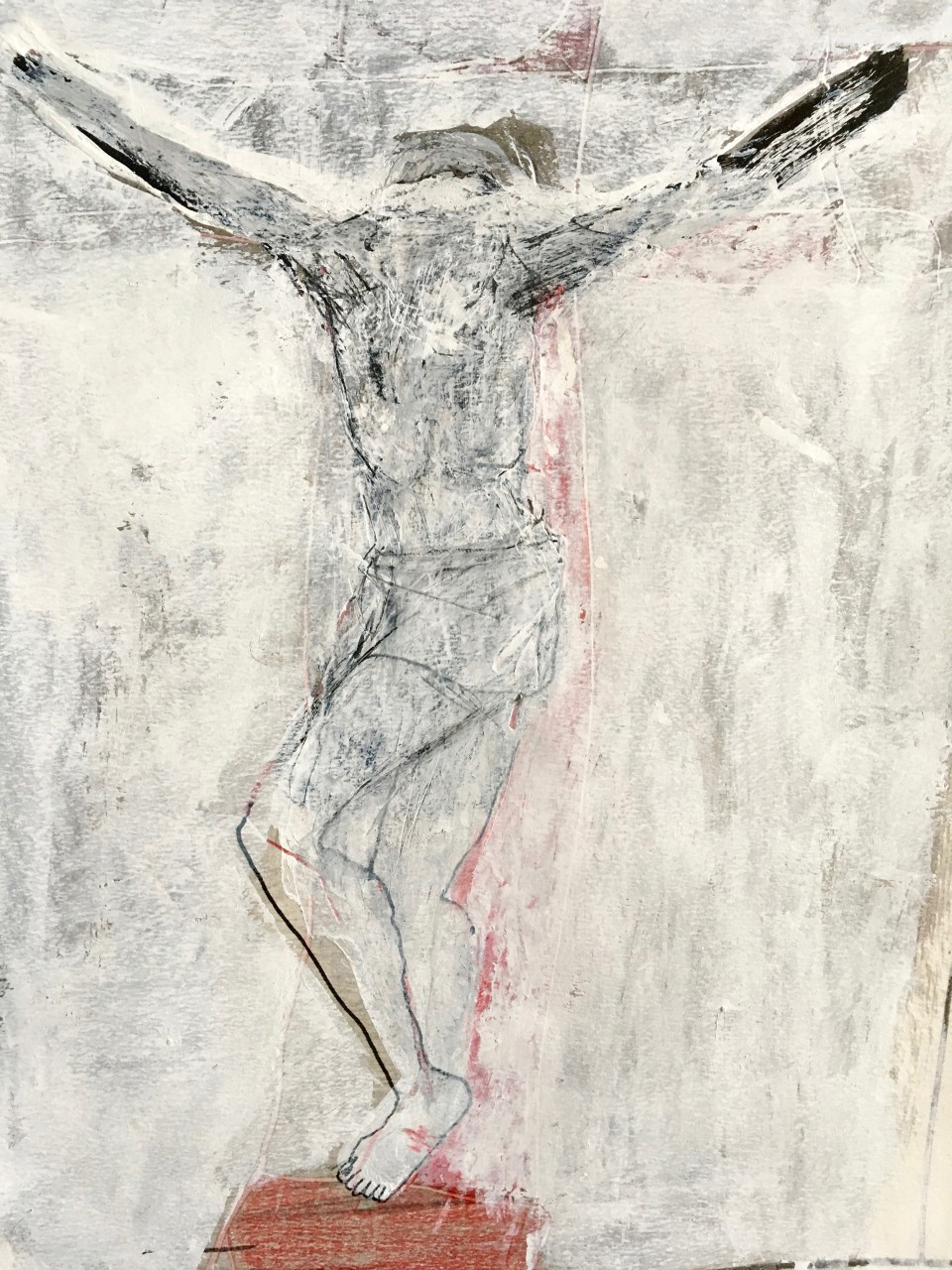 original artwork on paper, cross on calvary